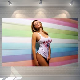 Wholesale Christmas Painting Famous - Cool Sexy keeley Hazell Vintage Poster Retro Movie Posters Picture Painting 60*40cm Christmas Gift Wall Stickers Home Art Decor
