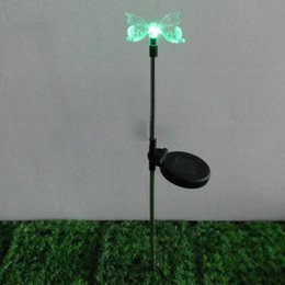 Wholesale shopping time Solar Butterfly LED Color Changing Light Stake Festival Garden Yard Xmas Deco