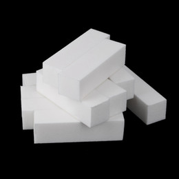 Wholesale White Buffer Block Acrylic Buffer Sanding Block Nail Art Care Tips Sanding Files Tool Nail tips H13075