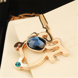Sweater chain long section Korean fashion personality cute puppy wild animal pendant long necklace jewelry Female