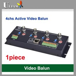 Balun pasivo de vídeo de 4 canales en Línea-Balun video activo del receptor de UAB-406R 4ch para el CCTV DVR Envío libre 330m con el transceptor pasivo 1500m con el transceptor activo