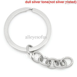 "Wholesale-Key Chains & Key Rings Silver Tone 6.8cm(2 5 8"")long, 10PCs (B26079)"