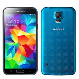 Wholesale Original Samsung Galaxy S5 G900 G LTE Fingerprint Scanner inch Super AMOLED GB GB MP Camera GPS Refurbished Smartphone