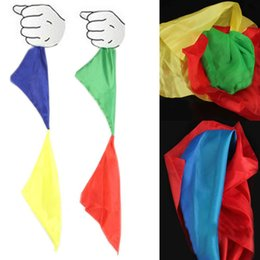 Wholesale pc New Magic Trick Props Magic Tools Toys Practical Change Color Silk Scarf