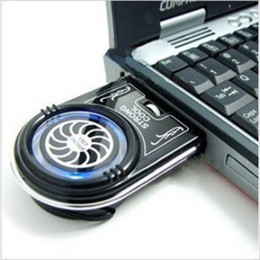 Wholesale New Mini Vacuum Blue LED USB Air Extracting Cooling Fan Cooler for Notebook Laptop PC