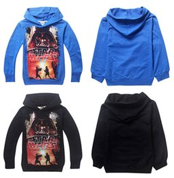 100% Cotton Stars Wars Boys Spring Hoodies Darth Vader Kids Long Sleeve Hoodied Tshirt 2Colors Kids Spring Autumn Clothes