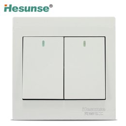 Wholesale B1 S Hesunse Two Gang Two Ways A Wall SwitchPush Button Switch Light Switch