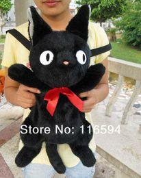 Wholesale 2014 style retail inch Japan Anime KiKis Delivery Service JIJI CAT Plush backpack soft plush school bag black