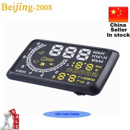 Wholesale 2015 News W02 Multifunctional OBD II Vehicle Car HUD Head Up Display System Indicator Projected Display Security System