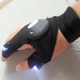 Descuento repara coches Guantes Glow-Deportes mayorista Reparación Hombres coches Pesca guantes dedo Guantes Iluminación Artefacto algodón moto Media