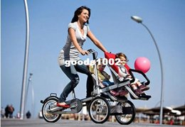 Wholesale New inch Aluminium Alloy Carrier Bicycle carrinho baby car Double baby seats in1 Baby Strollers Folding Taga Bike for Twins
