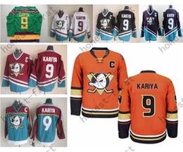 New Anaheim Ducks Paul Kariya Jersey 9 Retro Team Alternate White Orange Green Purple Red Ice Hockey Paul Kariya Jersey