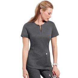Wholesale 2014 Summer women hospital medical scrub clothes clinical uniform slim fiit