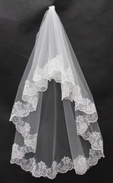 Free Shipping One Layer Lace Netting Three Meters With Comb Short Bridal Veils Cheap Hot Sale High Quality