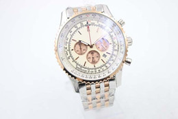 Quartz Chronograph Men's Wristwatch Rose Gold Fluted Case White Dial Ti3 Full Stainless Steel Belt A24322 Stopwatch Male Watch Relogioes