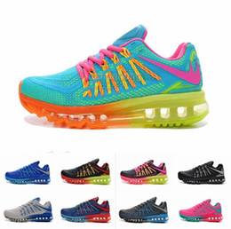 2016 Shoes Run Air Max New Max 2015 Running Shoes For Women & Men, Breathable Honeycomb KPU Soft Air Cushion Sport Sneakers Eur Size 36-46