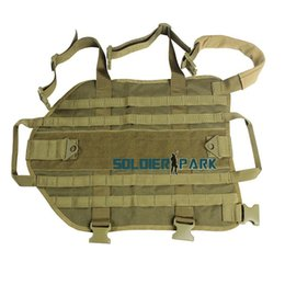 Wholesale CORDURA Hunting Tactical Dog Vest Military Army Police Dog Clothes Load Bearing Dog Training Molle Vest Harness Coyote Brown order lt no tra
