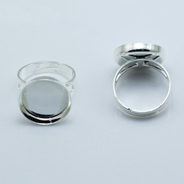 Wholesale Beadsnice jewelry ring ring blanks bezel setting fits mm round cameo or cabochons adjustable finger ring base ID