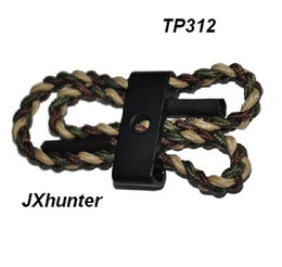 10piece lot Archery hunting compound bow Braided bow sling,aluminum mounting,TP312 wrist sling for hunting