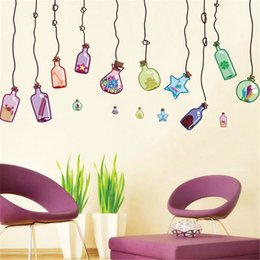 Creative Drifting Bottle Living Room Bedding Room Dinning Room Wall Sticker for Sale Free Shipping