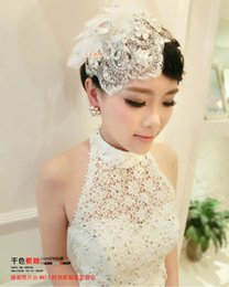 Wholesale Big Discount Bridal Hat Birdcage Wedding Hats And Fascinators Cocktail Hair Accessories Headdress Couture Wedding Hats