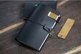Black Genuine Leather Style Traveler's Notebook Handmade traveler journal Refillable Leather diary  gift set