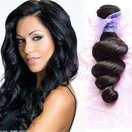 Unprocessed Brazilian Virgin Hair Weave Loose Wave Wavy Peruvian Malaysian Indian Remy Hair Extensions Natural Color Human Hair Weft Bundles