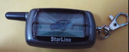 Sistema de alarma a distancia un coche en venta-Sistema de alarma de envío libre de dos vías del coche de Starline Twage A9 Russian Version LCD remoto Auto alarmas del motor de arranque