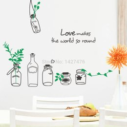 Wholesale 2015 New ZY8373 new love creative drift bottles ebay trade explosion models waterproof removable wall stickers