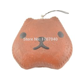 Wholesale New Jumbo cm Squishy Kapibarasan Cake Phone Straps Soft Bread Key Chains Collectibles