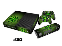 420 0107 Fashion Skin Decal For Xbox one Console and 2PCS Xbox one Controller Skins Stickers