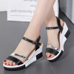 plardin 2017 women shoes summer Narrow Band Buckle Strap style flat heel soft leather casual Ankle Strap woman beach sandals