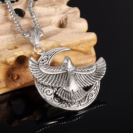 Wholesale Eagle eagle logo Dapeng wings titanium steel influx of men and personalized pendant XL00141