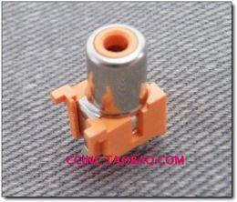 Wholesale 2016 Original unihan video socket av connector rca lotus orange pin with switch vertical