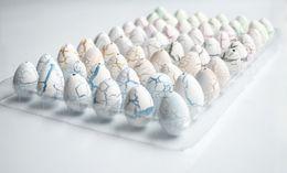 Small white crack dinosaur egg. Expansion soaked toys, dinosaur resurrection hatching eggs