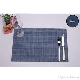 Wholesale 2016 New Kitchen Bar Waterproof PVC Placemat Family Dinning Table Mats Insulation Place Mats Retro Woven Placemats Heat Resistant Cup Pads