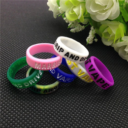 E cigarette silicon rubber band vape ring engraved logo for mechanical mods decorative and protective vape mods resistance rubber vape bands