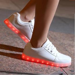 7 Color Basket LED Shoes 2017 LED Shoes For Adults Fashion Glowing LED Light Shoes Chaussure Lumineuse Basket Femme