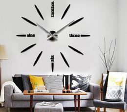 Wholesale New oversized watch wall creative diy modern art wall clock personalized background wall mute clocks DZ0196