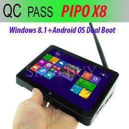 Wholesale Original PIPO X8 tv box Windows8 Android4 Dual Boot Intel Z3736F Quad Core Mini PC quot Tablet HDMI G G BT4