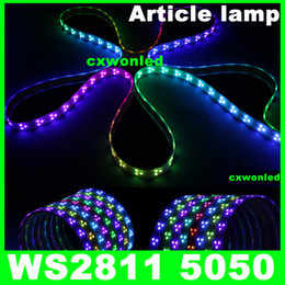 Promotion couleur de rêve magique Ws2811 IC 5050 lumière de bande RVB numérique, 90LED IP67 tube étanche et IP20 Non imperméable couleur rêve magique 12V Led Strip, 90LED / m