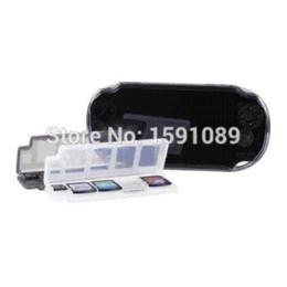 10 en 1 caja de almacenaje del caso del sostenedor de tarjeta de memoria del juego para PS Vita PSV, envío libre desde memoria xbox proveedores