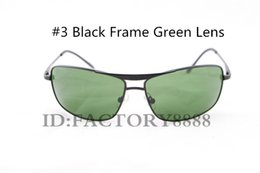 Free Shipping Men's Designer 8013 Driving Sunglasses Glasses Eyewear Black Frame Green 64mm Glass Lenses Excellent Quality with box