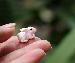 Wholesale rabbit bunny fairy garden gnome animals moss terrarium home desktop decor crafts bonsai doll house miniatures DIY c12