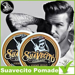 Suavecito Pomade Gel 4oz Strong Style Restoring Ancient Ways is Big Skeleton Hair gel Slicked Back Hair Oil Wax Mud Hair Waxes