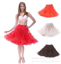 Promotion mini-roches Livraison gratuite 6 couleurs 50s Rock Short Petticoats Mini Rockabilly Petticoat Tulle Underskirt Outwear Jupe Tutu Crinoline Short