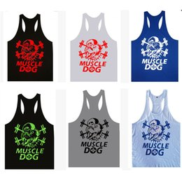 Wholesale Summer Muscle Dog Tank Tops for Men Thick Loose Sports Under Shirts Best Natural Color Sleeveless Cotton Vest