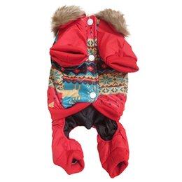 Купить Онлайн Большие костюмы для собак-Большой щенок зима Флис комбинезон Одежда Домашние животные Собаки Пальто Подогреть Outwear Outfit Костюм