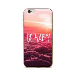 Wholesale For iPhone 4 4S 5 5S 5C 6 6S 6Plus Be Happy Cloud Background Of Skin TPU Silicone Gel Protective Cover