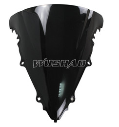 Motorcycle Double Bubble Windshield WindScreen For 2003-2005 Yamaha YZF 600 R6 2004 YZF R6 03 05 04 Black